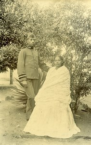 Madagascar Military Couple Woman Hova Old Photo Ramahandry 1910'