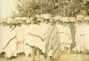 Madagascar Groupe Ethnie Betsileo Ancienne Photo Ramahandry 1910'