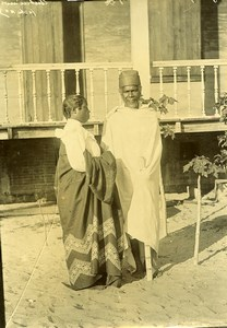 Madagascar Couple Ethnie Antaimoro Antemoro Ancienne Photo Ramahandry 1910'