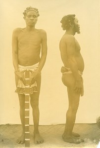Madagascar Hommes Ethnie Antandroy Tandroy Ancienne Photo Bastard 1910'