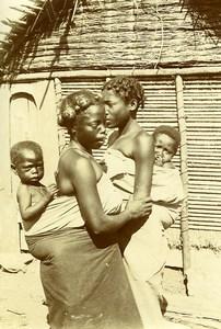Madagascar Tananarive? Young Mother & Children Old Photo Ramahandry 1910'