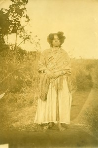 Madagascar Femme de Sainte Marienne Ancienne Photo Ramahandry 1910'