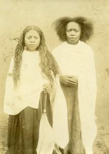 Madagascar Tananarive Jeunes Filles Ancienne Photo Ramahandry 1910'