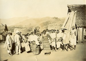 Madagascar Tromba ou Bilo Possession diabolique Ancienne Photo Ramahandry 1910'
