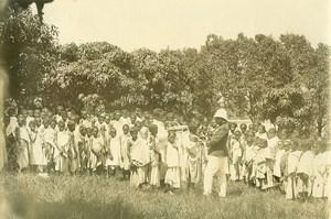 Madagascar Children Vaccination Public Health Old Photo Ramahandry 1910'
