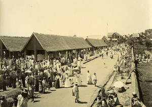 Madagascar Le marché à Ambositra Animation Ancienne Photo Ramahandry 1910'