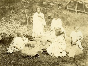 Madagascar Ecole Ecolieres Sciences Natuerelles ? Ancienne Photo Ramahandry 1910'