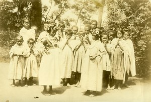 Madagascar Gampita Danse Malgache Enfants Ancienne Photo Ramahandry 1910'