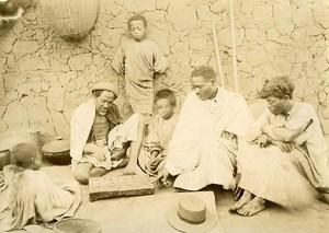 Madagascar Joueurs de Fanorona Jeu de Societe Ancienne Photo Ramahandry 1910'