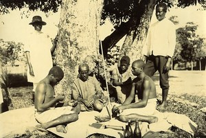 Madagascar Ceremonie du Fatidrah Serment du Sang Ancienne Photo Ramahandry 1910'