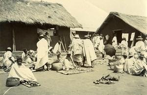 Madagascar Marché aux poissons de Manja Ancienne Photo Ramahandry 1910'
