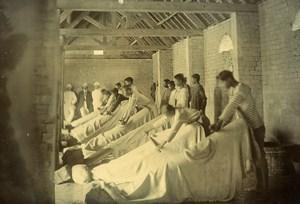 Madagascar Ecole d'apprentissage Préparation de cuirs Tanneurs Ancienne Photo Ramahandry 1910'