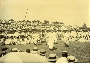 Madagascar Chanteurs et Danseurs Malgaches Ancienne Photo Ramahandry 1910'