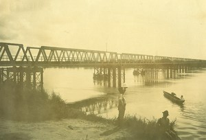 Madagascar Pont a Malahara Riviere Ancienne Photo Ramahandry 1910'