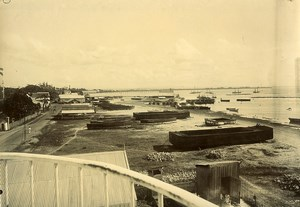 Madagascar Tamatave la Douane Bord de Mer Ancienne Photo Ramahandry 1910'