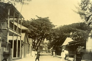 Madagascar Tamatave rue du Commerce Ancienne Photo Ramahandry 1910'