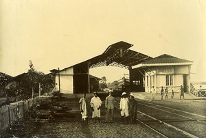 Madagascar Gare de Soanierana Ivongo Ancienne Photo Ramahandry 1910'