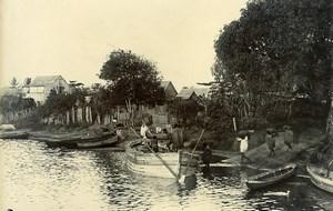 Madagascar River Rianila at Andevoranto Old Photo Ramahandry 1910'