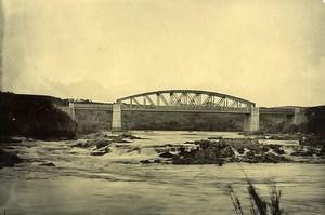 Madagascar le fleuve Mangoro Pont Ancienne Photo Ramahandry 1910'