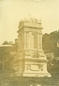 Madagascar Tananarive Monument au square Poincaré Ancienne Photo Ramahandry 1910'