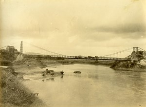 Madagascar Tananarive Pont suspendu d'Anosizato Ancienne Photo Ramahandry 1910'