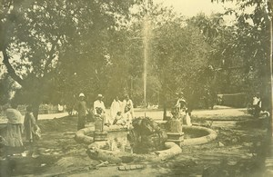 Madagascar Tananarive Jardin d'Arivonimamo Fontaine Ancienne Photo Ramahandry 1910'