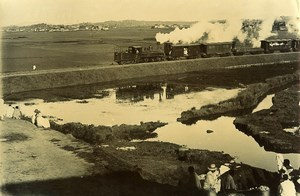 Madagascar Tananarive Inauguration du Train a Vapeur Ancienne Photo Ramahandry 1910'