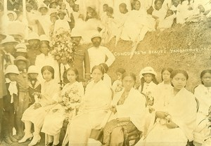 Madagascar Tananarive Beauty pageant Old Photo Ramahandry 1915