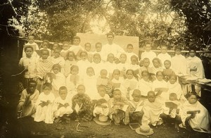 Madagascar Tananarive Eleves de l'Ecole Officielle Ancienne Photo Ramahandry 1910'
