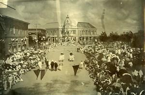 Madagascar Tananarive Arrivée du Gouverneur Picquié place Colbert Ancienne Photo Ramahandry 1910'