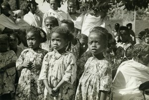 Madagascar Antsalova Enfants Sakalave Sakalava du Menabe Ancienne Photo 1950