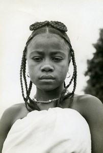 Madagascar Mahafaly Young Girl Old Photo 1950