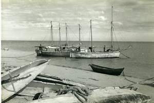 Madagascar Soalala Harbor Fishing? Boats Old Photo 1950
