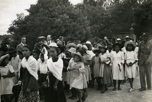 Madagascar Tananarive Children's Day Old Photo 1950