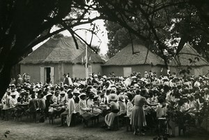 Madagascar Tananarive? Children's Day Outdoor Meal Old Photo 1950