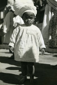 Madagascar Tananarive Children's Day Cute Child Old Photo 1950