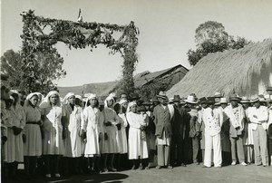 Madagascar Hopital à Analavory Infirmieres Ancienne Photo 1950