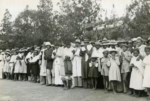 Madagascar Miarinarivo Crowd in Sunday Clothes Old Photo 1950