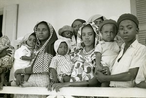 Madagascar Majunga à la Croix Rouge Ancienne Photo 1950