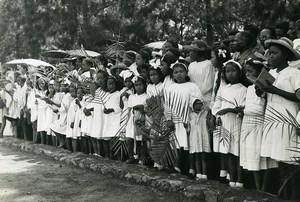 Madagascar Tamatave ? Defile Crowd watching Old Photo 1950