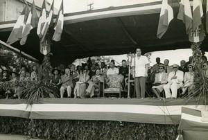 Madagascar Fianarantsoa François Mitterrand Speech Old Photo 1950
