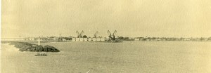 Vue poétique de Madagascar Panorama Mer Phare Grues Majunga? Ancienne Photo 1937