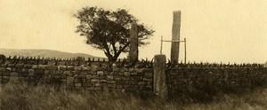 Vue poétique de Madagascar Panorama Ambovombe Tombeau Ancienne Photo 1937