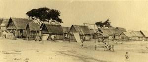Vue poétique de Madagascar Panorama Manakara Ancienne Photo 1937