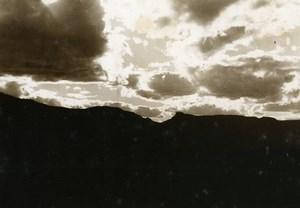 Vue poétique de Madagascar Andringitra Nuages Ancienne Photo 1937