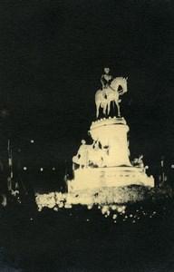 Vue poétique de Madagascar Tananarive Statue Equestre Ancienne Photo 1937
