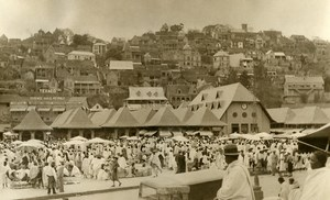 Busy View of Madagascar Tananarive Outdoor Market Old Photo 1937