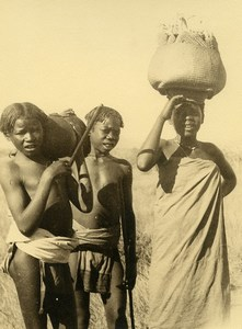 Madagascar Groupe d'Enfants Indigenes Ancienne Photo 1937