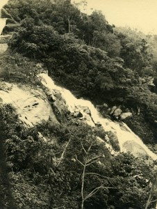 Vue poétique de Madagascar Environs de Tananarive? Cascade Ancienne Photo 1937