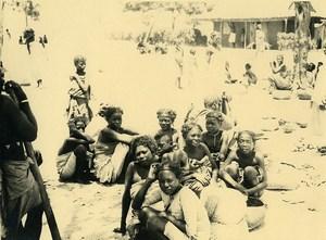 Madagascar Groupe de Femmes Indigenes Ancienne Photo 1937